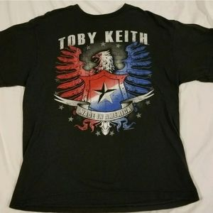 Toby keith made in america Concert Shirt eagle